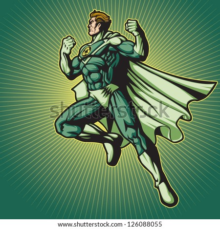 Recycle Hero 2 (with a cape) - stock vector