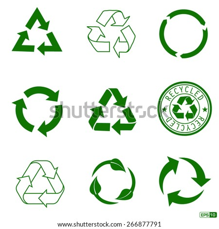 Recycle Icon Pack - stock vector