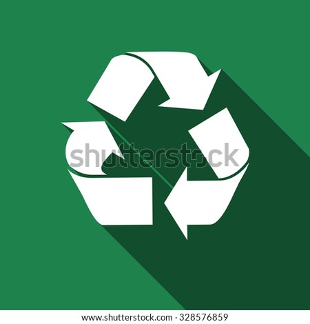 Recycle icon, recycle icon eps, recycle icon vector, recycle web icon, recycle with long shadow, recycle flat icon, recycle icon picture, recycle design icon, recycle icon art, recycle icon object - stock vector