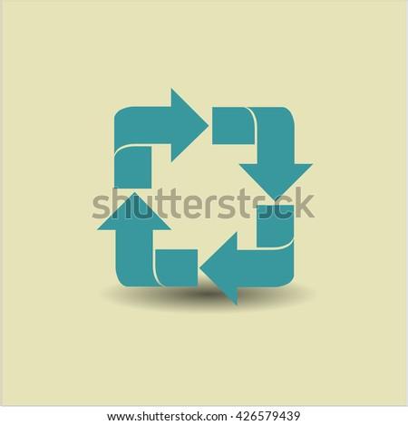 Recycle icon, Recycle icon vector, Recycle icon symbol, Recycle flat icon, Recycle icon eps, Recycle icon jpg, Recycle icon app, Recycle web icon, Recycle concept icon, Recycle website icon - stock vector