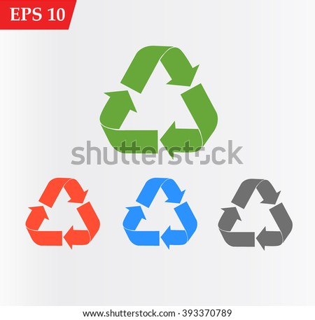 Recycle Icon Vector - stock vector