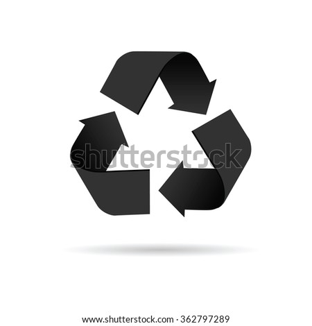 recycle icon vector illustration on a white background