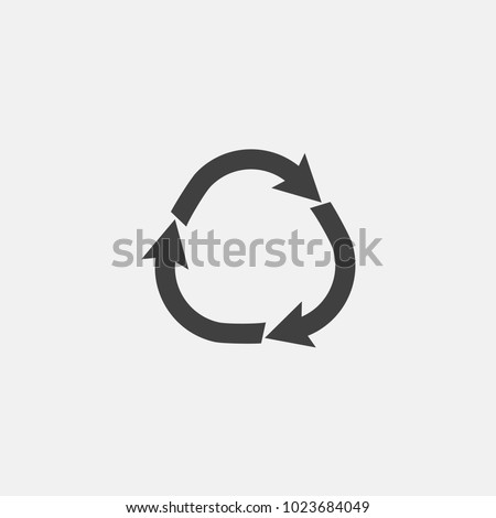 recycle icon vector illustration. recycle arrow icon vector