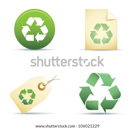Recycle IconSet - stock vector