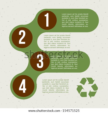 recycle infographics over pattern background vector illustration  - stock vector