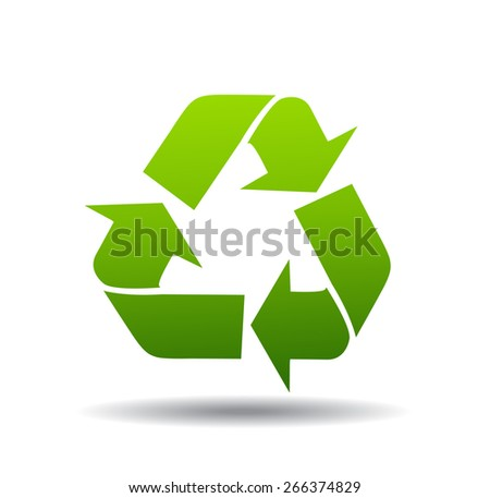 recycle logo - stock vector