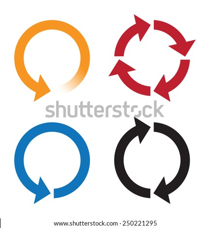 recycle or reload page icons - stock vector