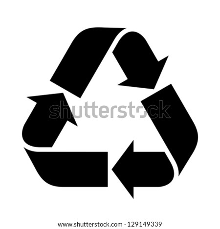 Recycle sign isolated on white background - stock vector