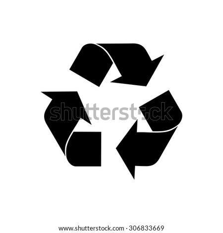 Recycle sign isolated on white background. Environment icon. - stock vector