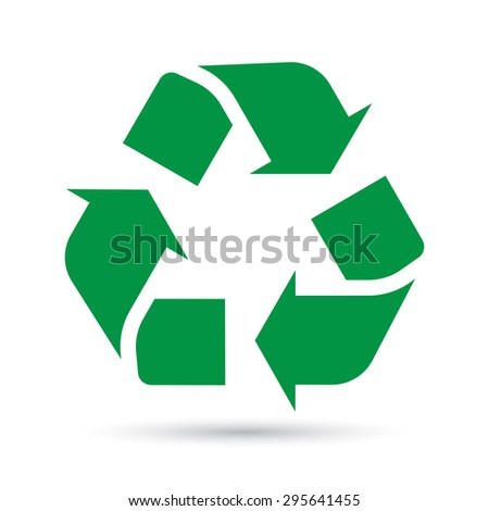 Recycle sign on white background.Illustration eps10 - stock vector