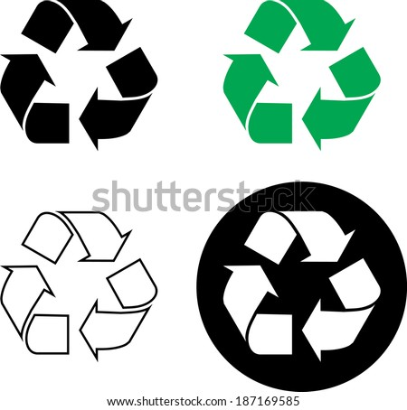 Recycle Sign- Vector - stock vector