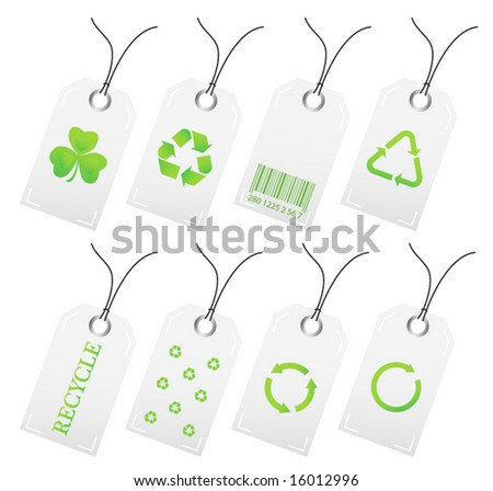 Recycle stickers - stock vector