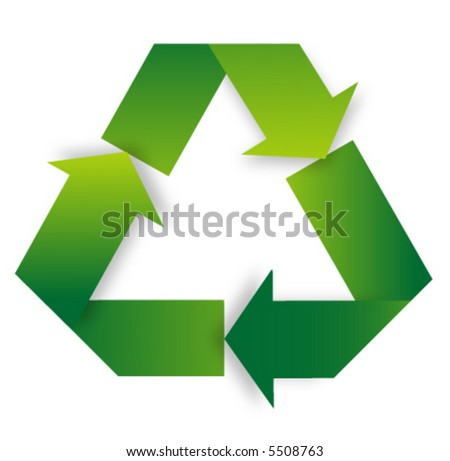 Recycle symbol. - stock vector