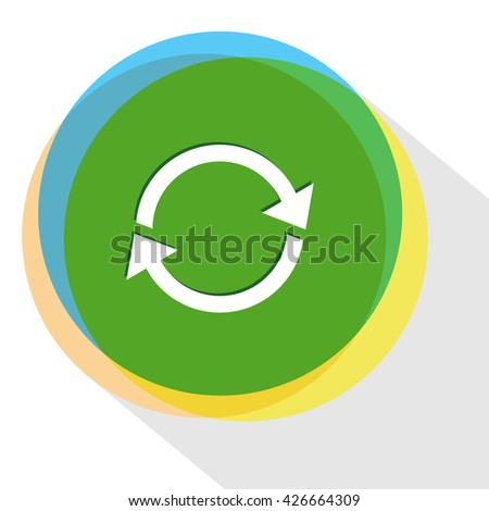 recycle symbol. Internet template. Vector icon. - stock vector