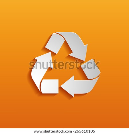 Recycle symbol or sign of conservation  - stock vector