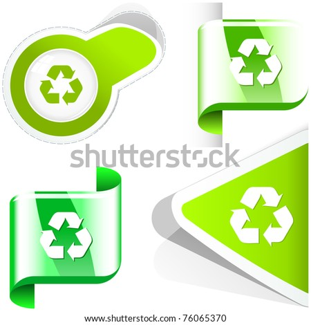 Recycle symbol. Vector collection.