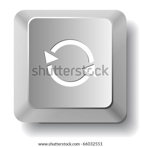 Recycle symbol. Vector computer key. - stock vector