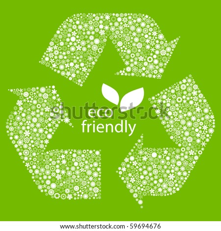 Recycle symbol. Vector illustration. - stock vector