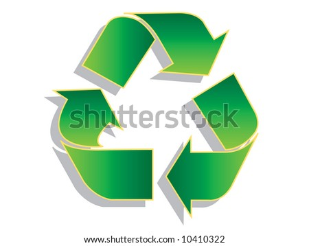 Recycle symbol with shadow