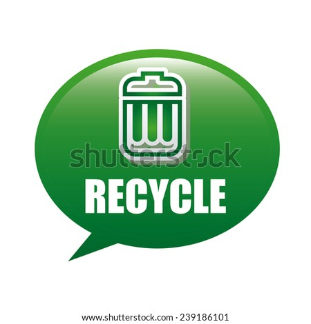 recycle trash - stock vector
