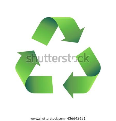 recycle vector icon - stock vector