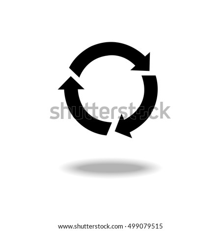 Recycle vector icon.