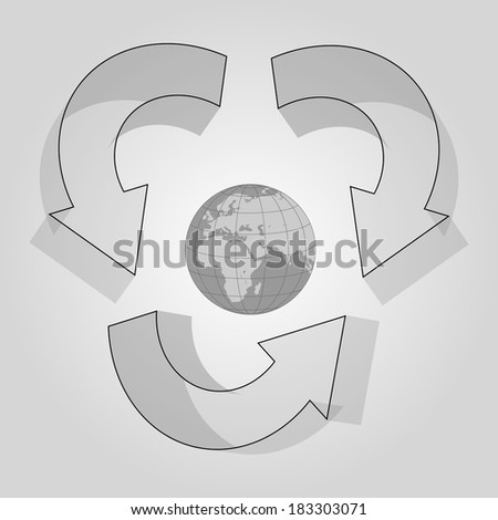 Recycle World - stock vector