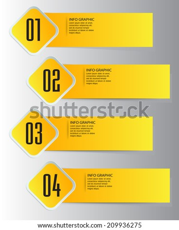 recycled old paper stick text box. label. - stock vector