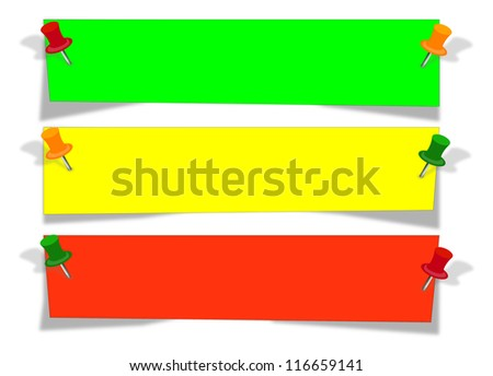recycled paper stick on white background - stock vector