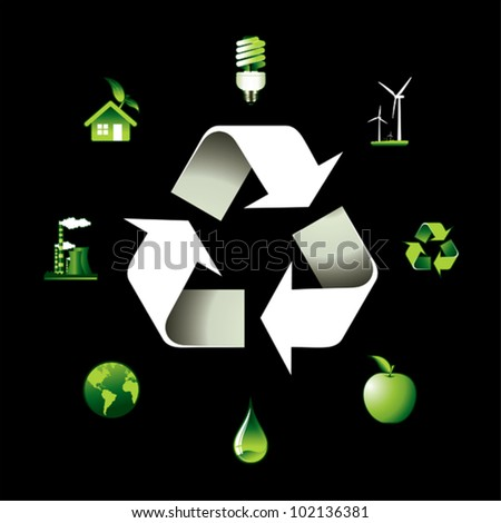 Recycling. - stock vector