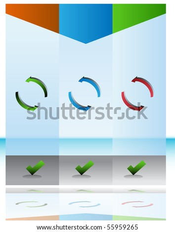 Recycling Chart - stock vector
