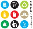 Recycling icon set - stock vector