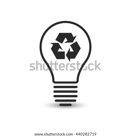 Recycling light bulb. Vector illustration