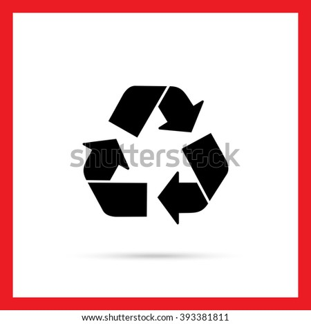 Recycling sign icon