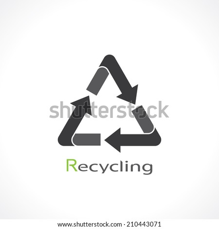recycling symbol. vector - stock vector