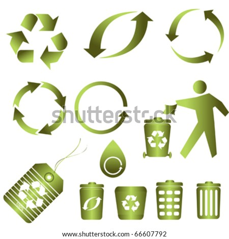 Recycling symbols for clean environment