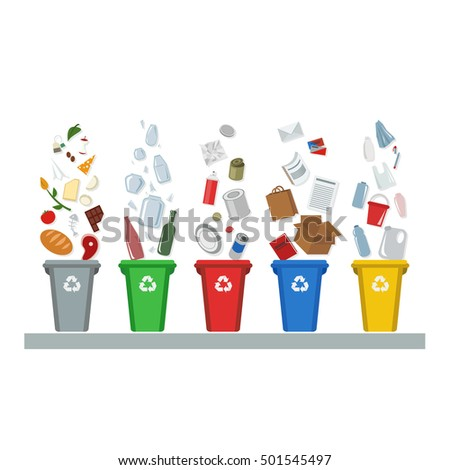 Recycling waste management garbage metal glass stock for Recycling of waste material