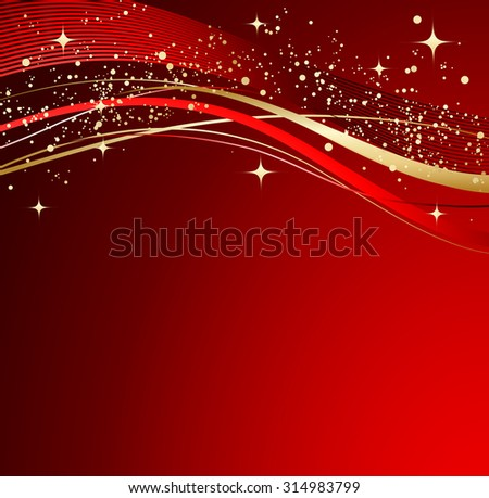 Red abstract background. Christmas background with wave.  - stock vector