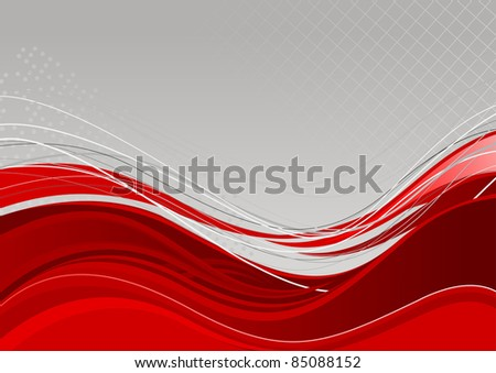 Red abstract background template. Vector illustration - stock vector
