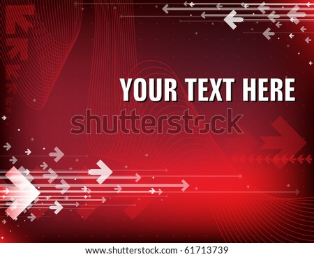 Red abstract background with place for your text - stock vector