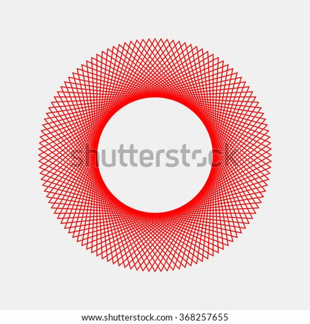 Red abstract fractal shape with light background for design concepts, posters, banners, web, presentations and prints.  Vector illustration.