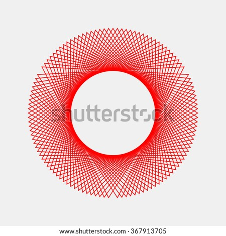 Red abstract fractal shape with light background for logo, design concepts, posters, banners, web, presentations and prints. Valentines day. Congratulations with 14th february. Vector illustration.