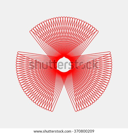 Red abstract fractal shape with light background for logo, design concepts, posters, banners, web, presentations and prints. Valentines day. Congratulations with 14th february. Vector illustration. - stock vector