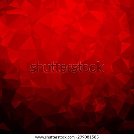 Red abstract polygon pattern background - stock vector