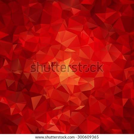 Red abstract polygon pattern background