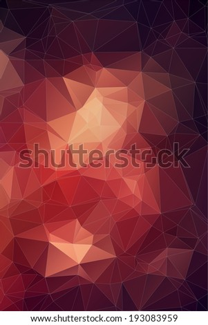 Red abstract polygonal background. Triangles background for your design - stock vector