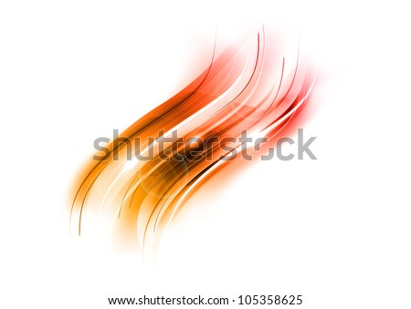red abstract shape on the light background