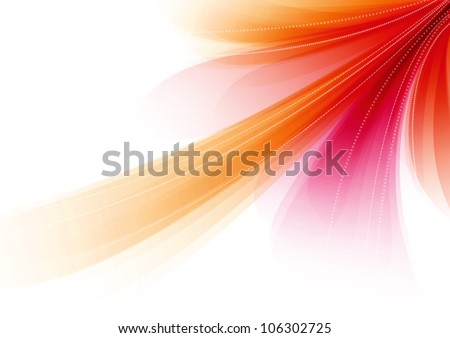 Red abstract soft vector background - stock vector