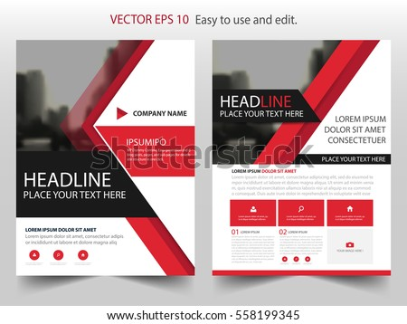 Red Abstract Annual Report Brochure Design Stock Vector 530413423