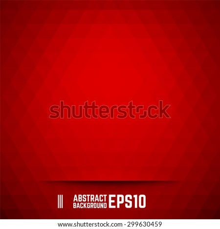 Red abstract triangle background. Vector illustration. - stock vector